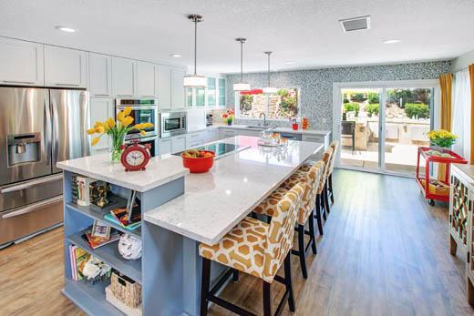 Blending Modern And Classic Elements, Along With Cheerful Pops Of  Goldenrod, This Bright Open Kitchen Holds Timeless Appeal. The Client Had  Been Waiting ...